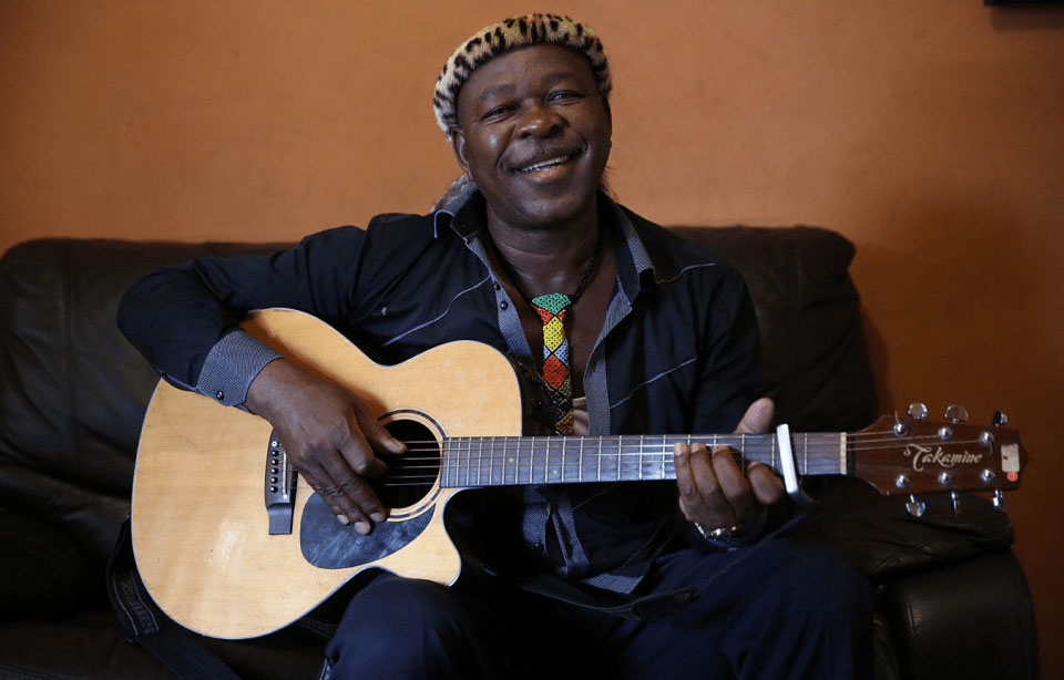 Maskandi legend Phuzekhemisi at home in Illovo on the KwaZulu-Natal South Coast.