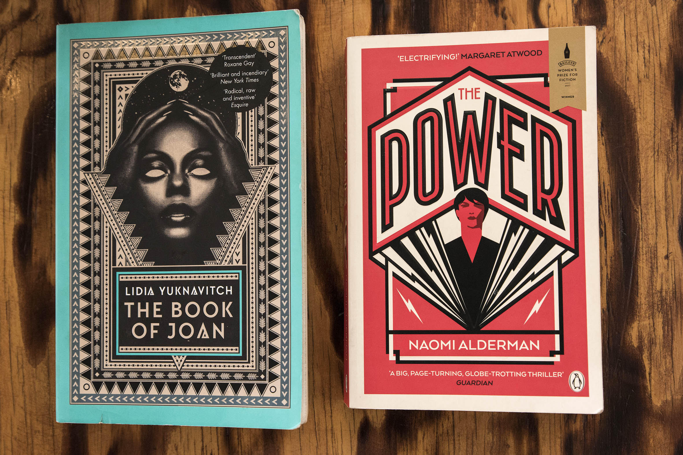 The Book of Joan by Lidia Yuknavitcvh and Power by Naomi Alderman: Photograph by Madelene Cronje