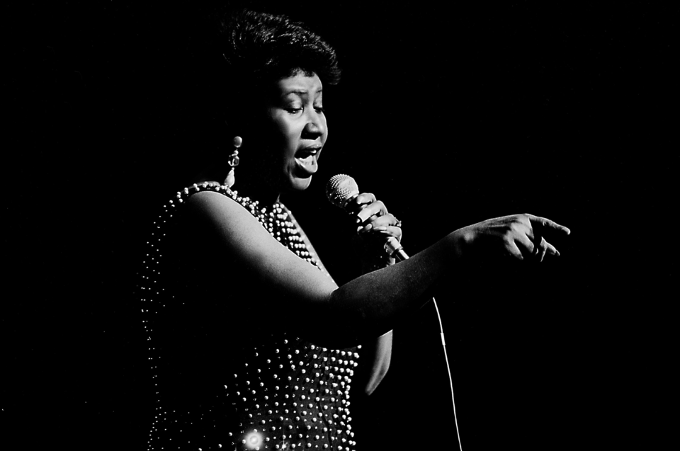 Aretha Franklin. (Photograph by Paul Natkin/Getty Images)