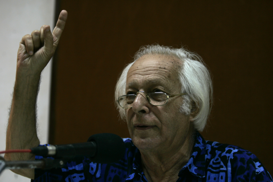Marxist Economist Samir Amin (Photo by Anshuman Poyrekar/Hindustan Times via Getty Images)