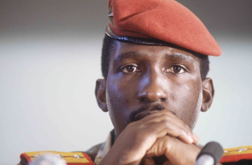 Captain Thomas Sankara attends the eighth Summit of Non-Aligned Countries. (Photograph by Patrick Durand/Sygma via Getty Images)