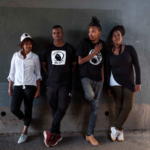 17 November 2018: (Left to right) Matsidiso Mkhiwane, Anele Selekwa, Kari Daweti and Anela Jahmena are Soundz of the South. (Photograph by Barry Christianson)