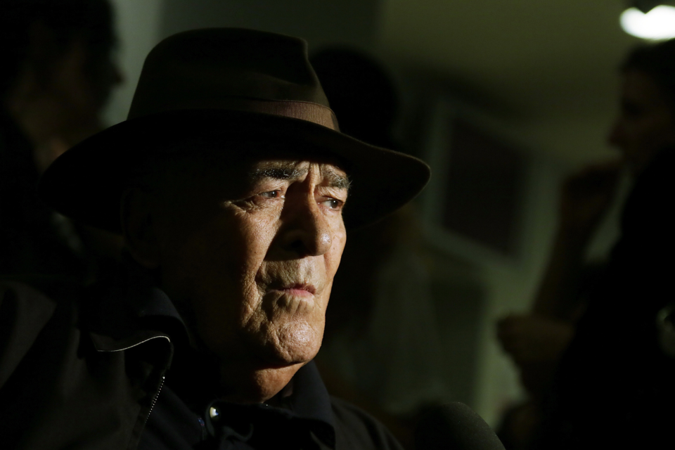 15 October 2014: Director Bernardo Bertolucci attends the Cocktail Party during the 9th Rome Film Festival at Casa del Cinema in Rome Italy. (Photograph by Ernesto Ruscio/Getty Images)