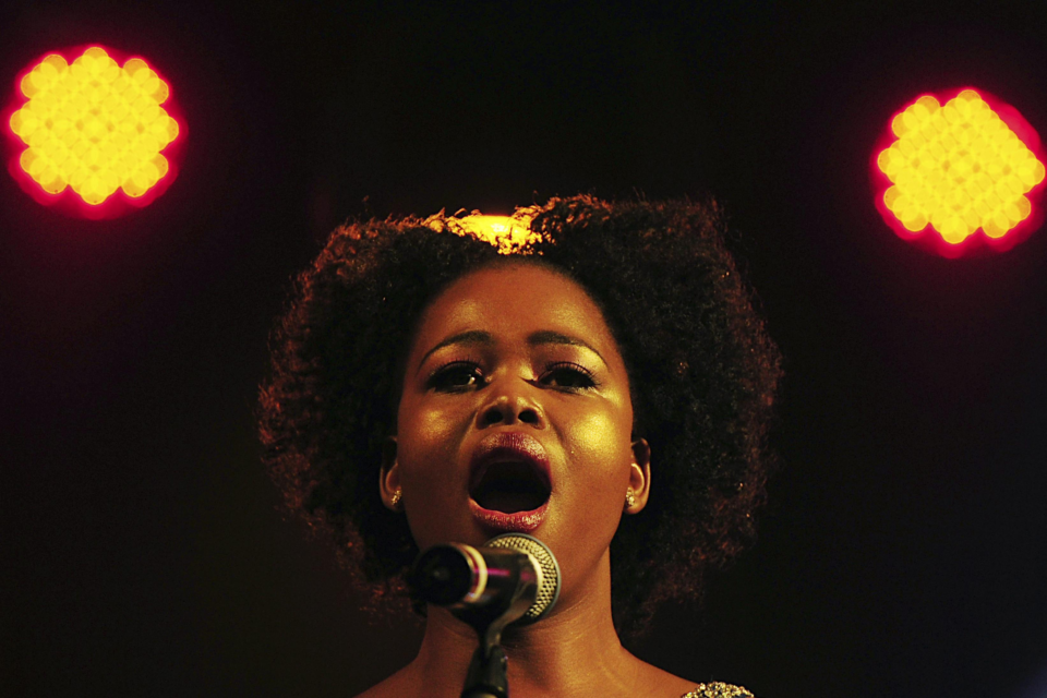 10 August 2013: Opera singer Pretty Yende during the farewell dinner for former deputy president Phumzile Mlambo-Ngcuka in Johannesburg. (Photograph by Gallo Images /City Press /Leon Sadiki)