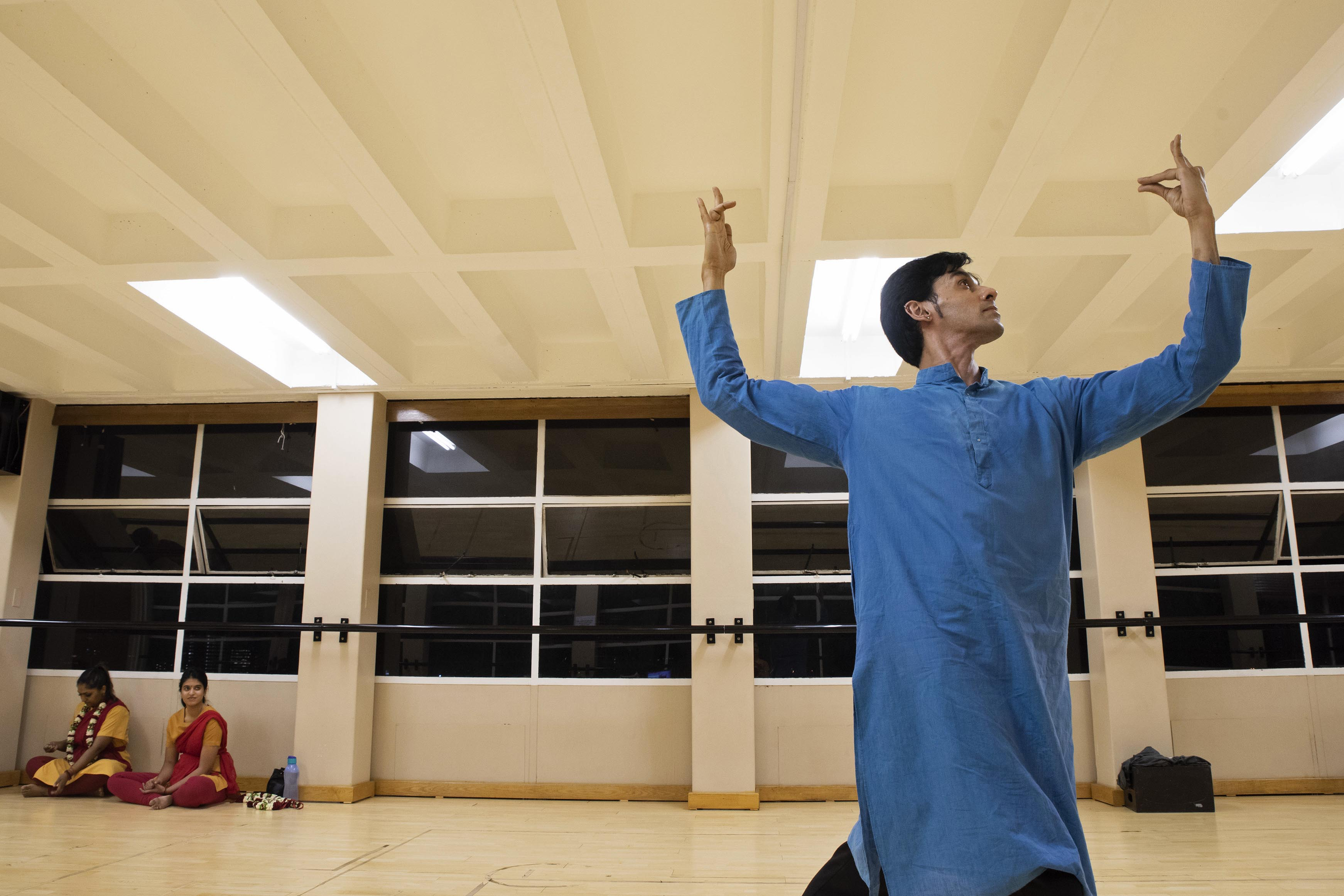 5 November 2018: Manesh Maharaj rehearsing for 'Sati: Shiva's Beloved' which will be performed at the Joburg Fringe Theatre.