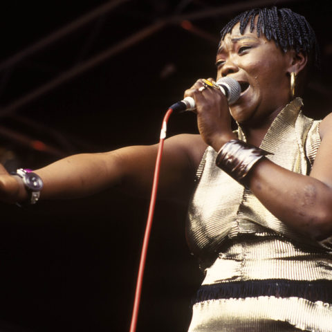 1 January 1994: The inimitable Brenda Fassie in full cry. (Photograph by Leon Morris/Redferns)