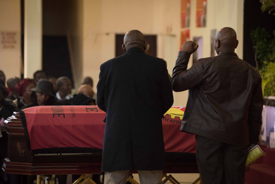 The funeral of Mapeto Baldwin Langa, held at Nangoza Jebe Hall in New Brighton, Port Elizabeth. Photograph by Daylin Paul