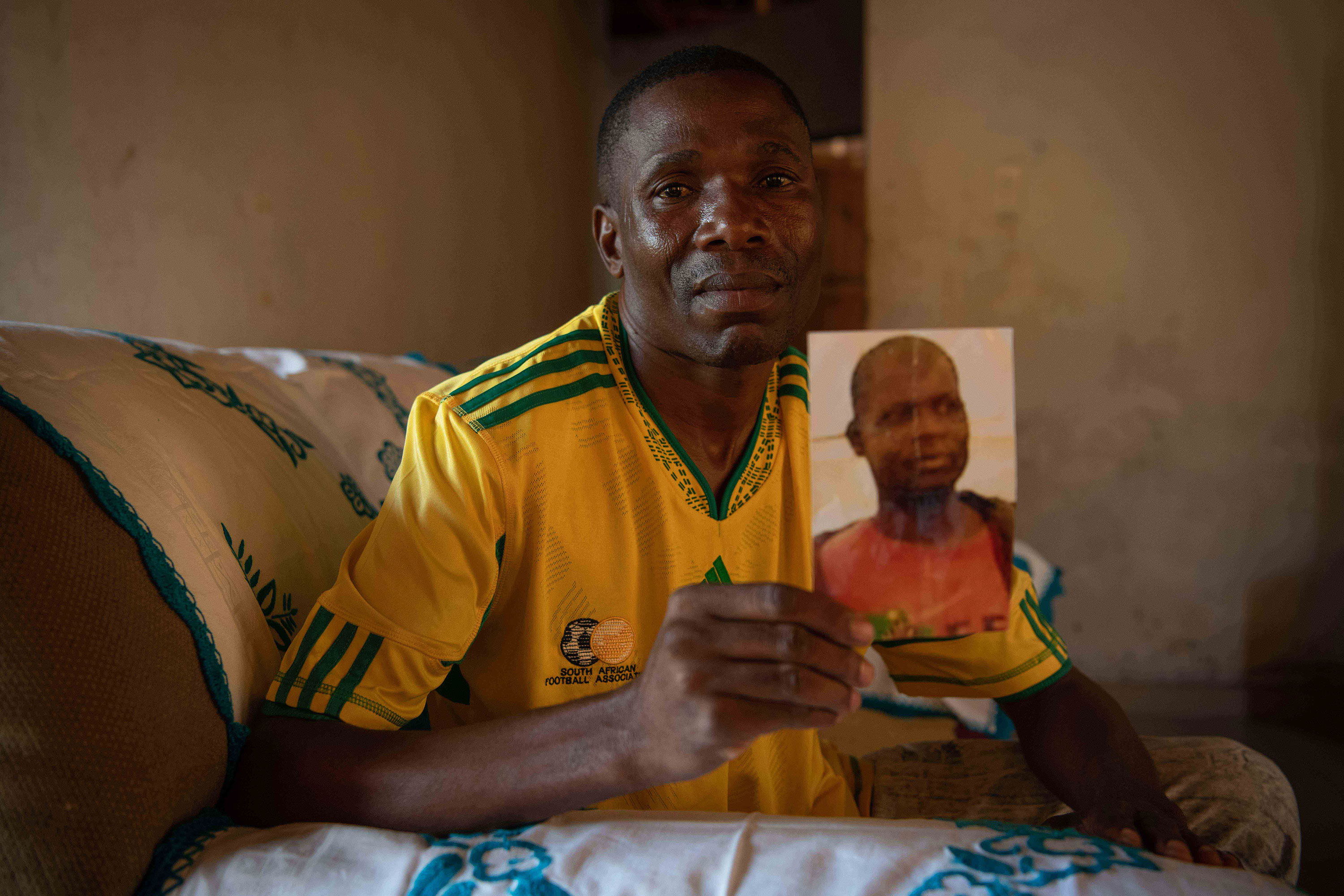 31 March 2019: Shumani Ndonyane, whose brother Isaac was killed on the outskirts of Thohoyandou.