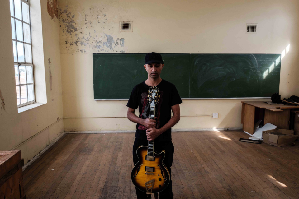 8 December 2018: Reza Khota during a portrait session in Woodstock, Cape Town.