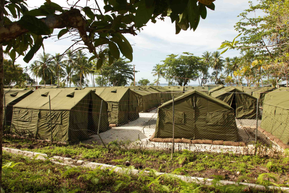 16 October 2012: Facilities at the Manus Island Regional Processing Facility in Papua New Guinea, used to detain refugees attempting to reach Australia by boat. (Photograph by the Australian Department of Immigration and Citizenship via Getty Images)