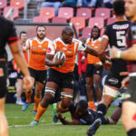 28 April 2018: Oupa Mohoje of the Cheetahs during the Guinness PRO14 match between Southern Kings and Toyota Cheetahs at Nelson Mandela Bay Stadium in Port Elizabeth. (Photograph by Michael Sheehan/Gallo Images)