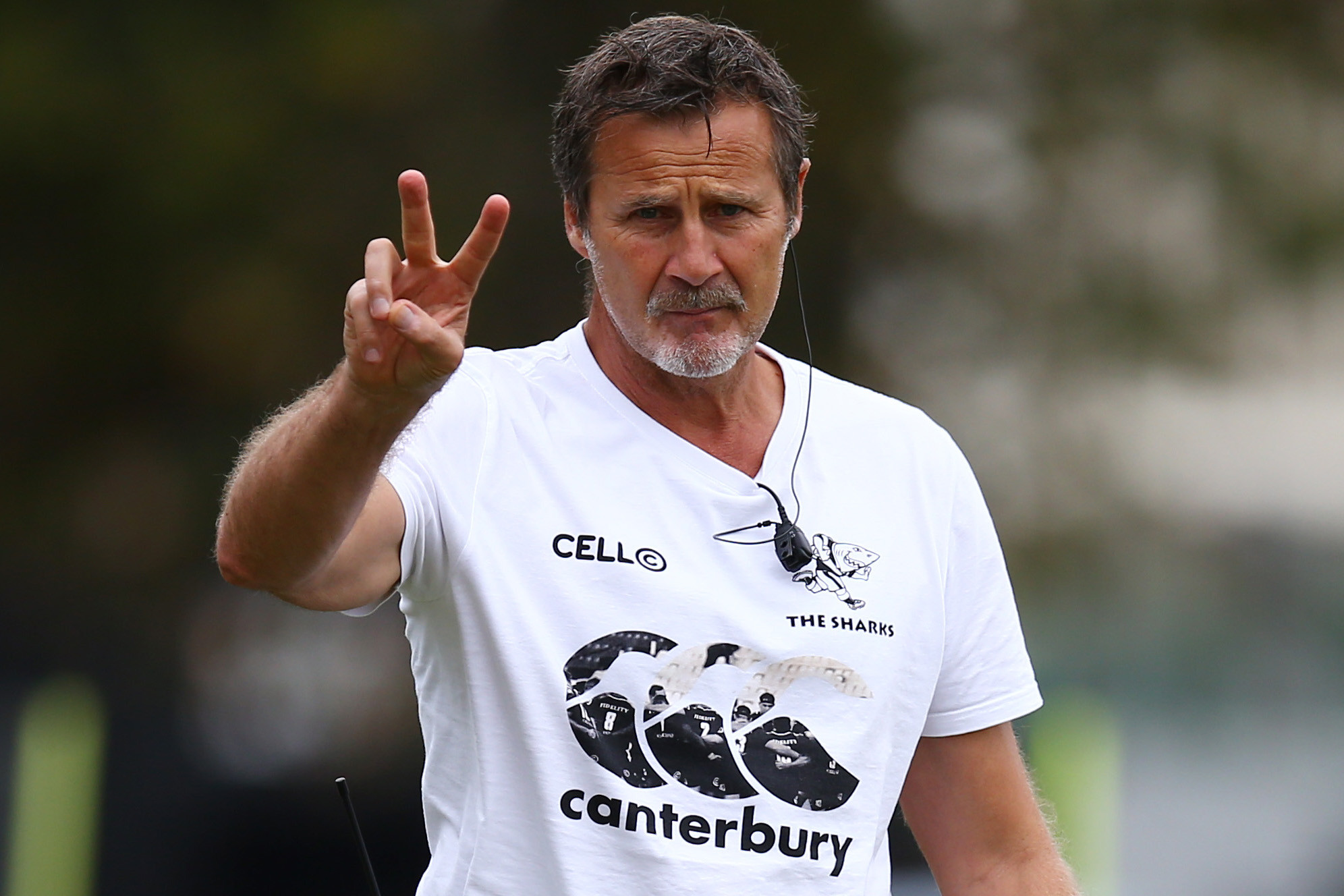 16 October 2018: Robert du Preez, head coach of the Cell C Sharks, during a training session at Jonsson Kings Park in Durban. (Photograph by Steve Haag/Gallo Images)