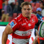 19 May 2018: Rohan Janse van Rensburg of Sale Sharks in the colours of his former team, Emirates Lions, during the Super Rugby match between the Lions and Brumbies at Emirates Airline Park in Johannesburg. (Photograph by Gordon Arons/Gallo Images)