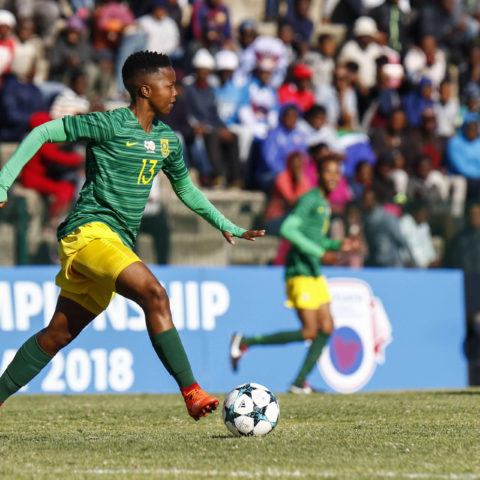 14 September 2018: Bambanani Mbane of Banyana and Bloemfontein Celtic during the Cosafa Championship between South Africa and Botswana in PE. Mbane is one of the players who'll benefit from the women's league. (Photograph by Michael Sheehan/Gallo Images)