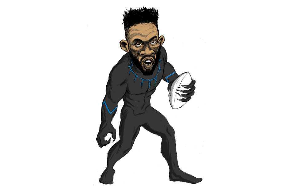 The Stormers may be representing Thor in this year's Super Rugby tournament, but captain Siya Kolisi is more Black Panther – a king who has to protect his kingdom from enemies within and outside his realm. (Illustration by Carlos Amato)