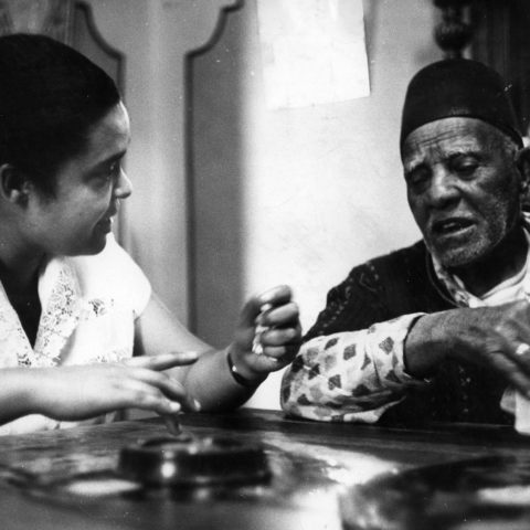 1960s: Bessie Head the journalist interviews a fortune teller. (Photograph by Drum Photographer/Baileys Archives/Africa Media Online)
