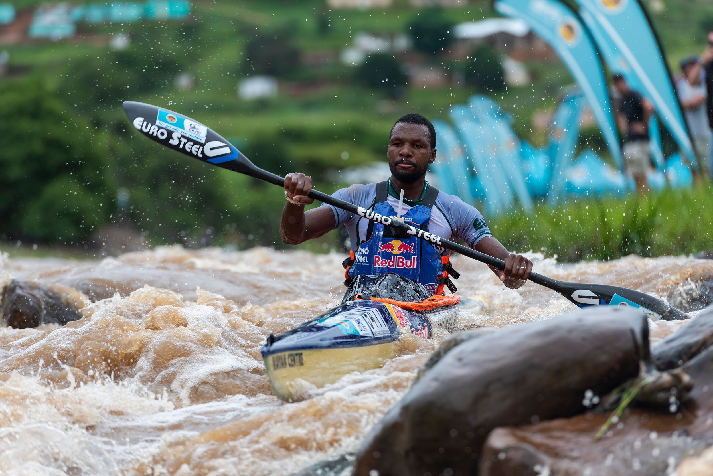 8 March 2019: Sbonelo Khwela, who hails from Shongweni, not only wants to give the valley its first winner but also wants to become the first black man to win the Dusi. (Photograph by Anthony Grote/Gameplan Media)