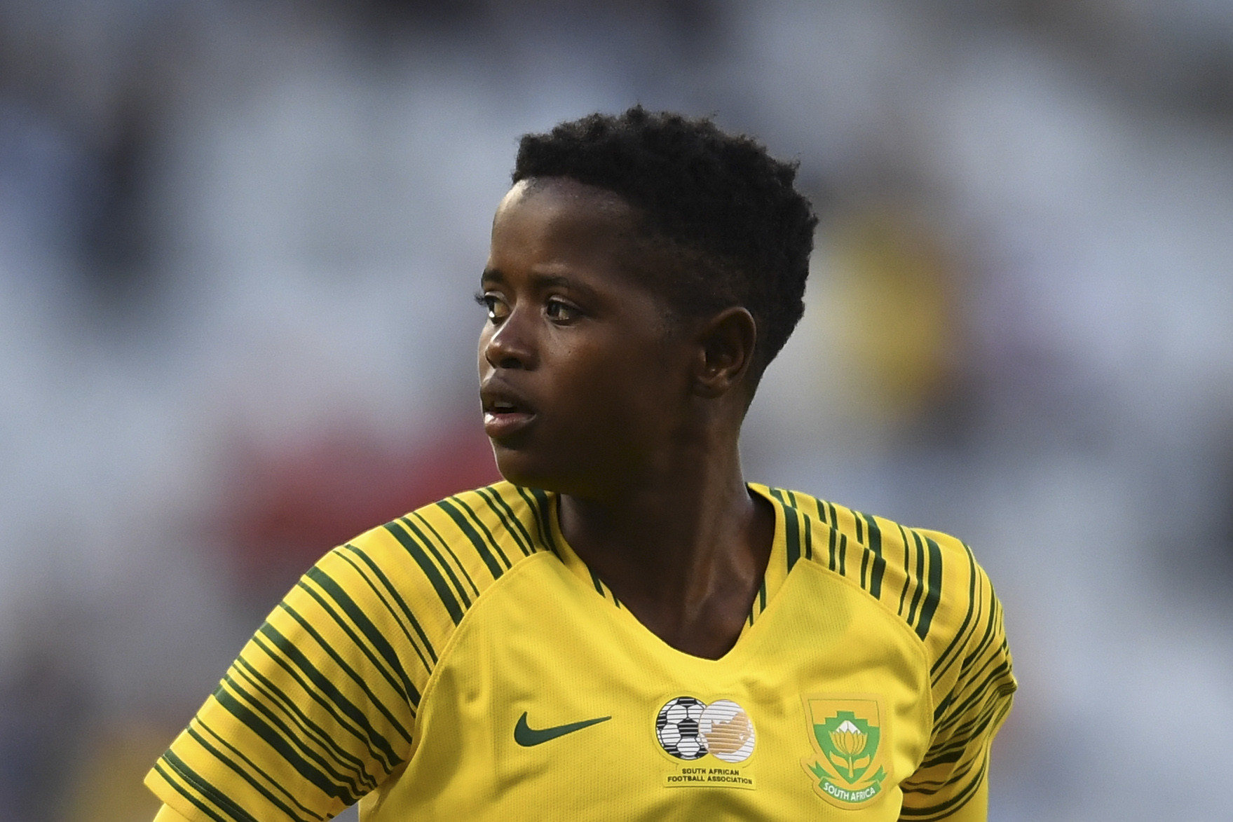 22 January 2019: South Africa's Lebohang Ramalepe during the Albertina Sisulu Challenge against Sweden at Cape Town Stadium. The game ended in a 0-0 draw. (Photograph by Ashley Vlotman/Gallo Images)