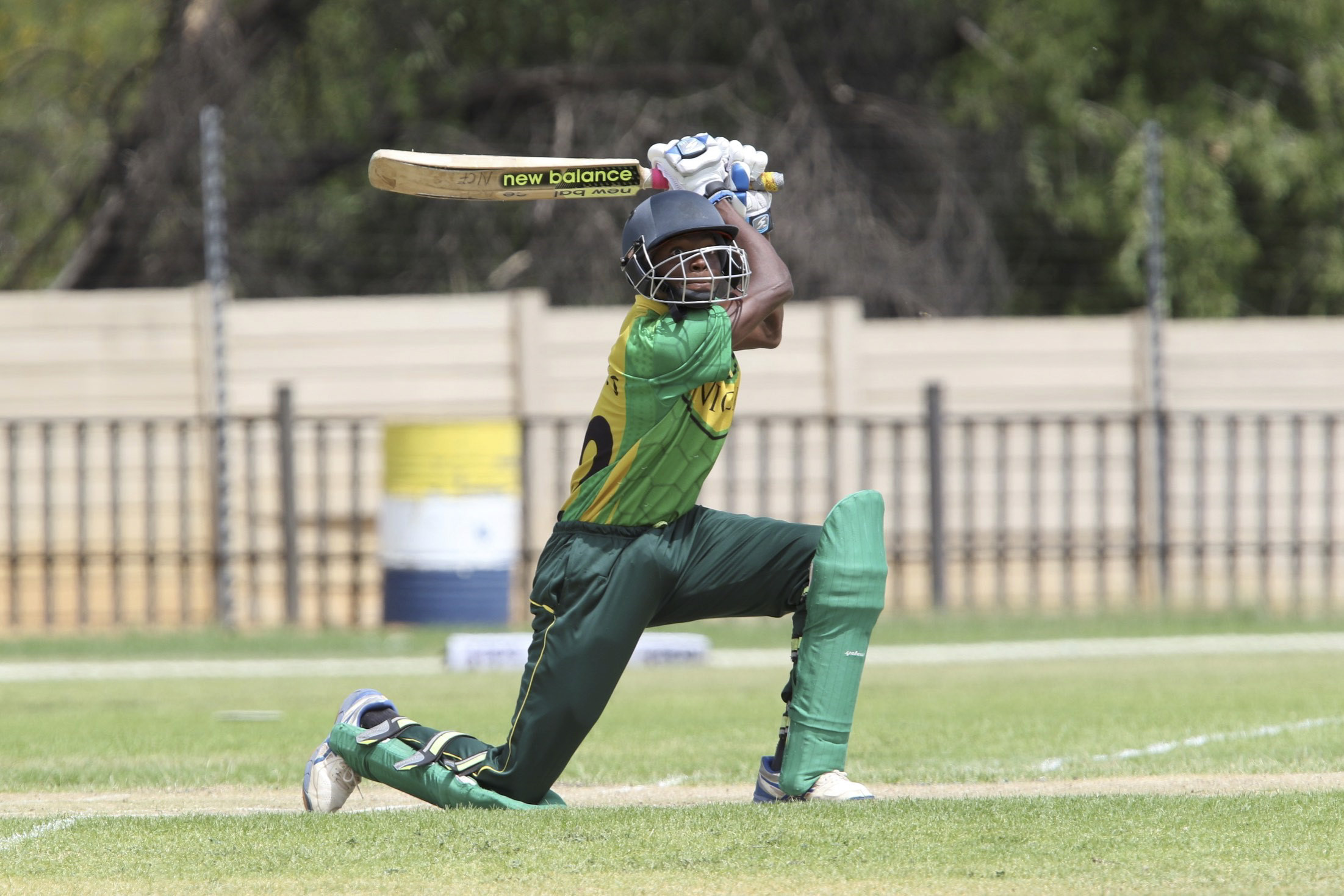 23 March 2019: Samuel Mba won over Nigeria Cricket Federation president Adam Yahaya Ukwenya with his determination. He repaid the faith placed in him with a heroic performance against Uganda. (Photograph by International Cricket Council)