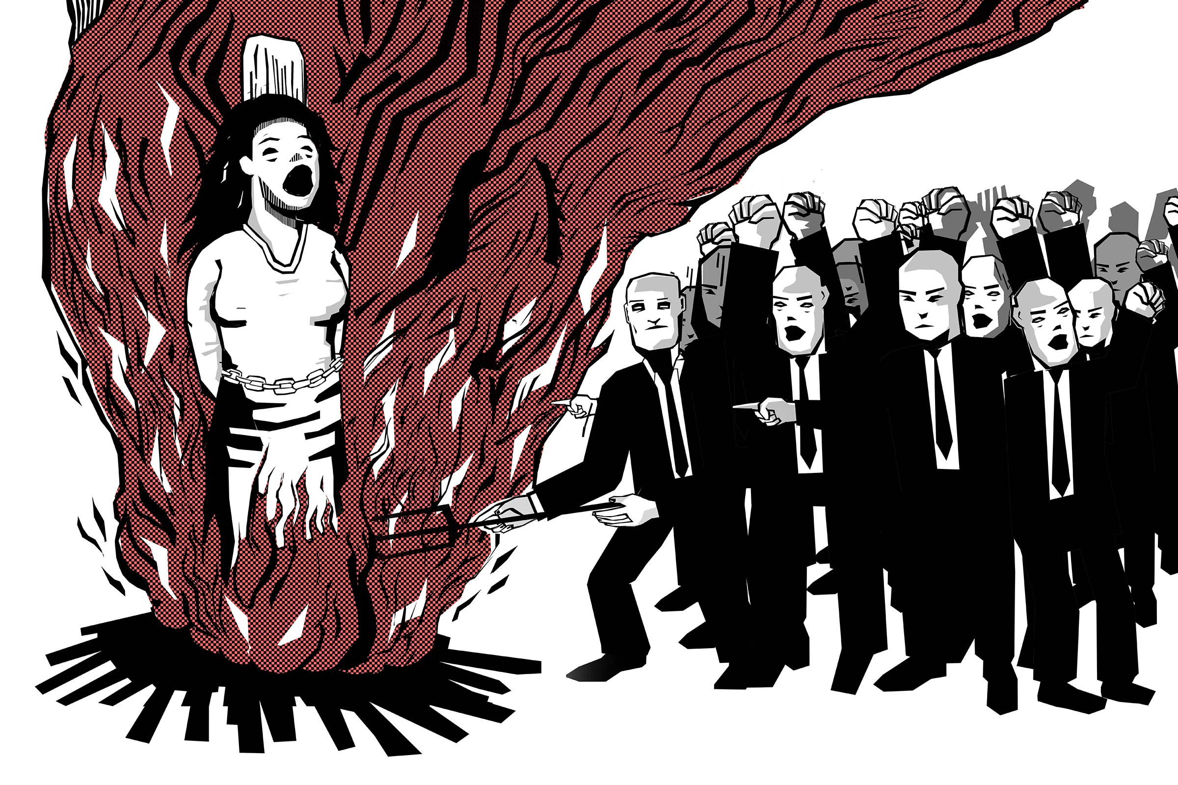 Capitalist development began with a war on women, argues Silvia Federici in this extract from her new book 'Witches, Witch-Hunting, and Women.' (Illustration by Nivesh Rawatlal)