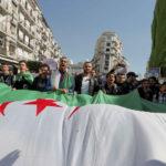 12 March 2019: Protestors demand immediate political change in Algiers, Algeria (Photograph by Reuters/Zohra Bensemra)
