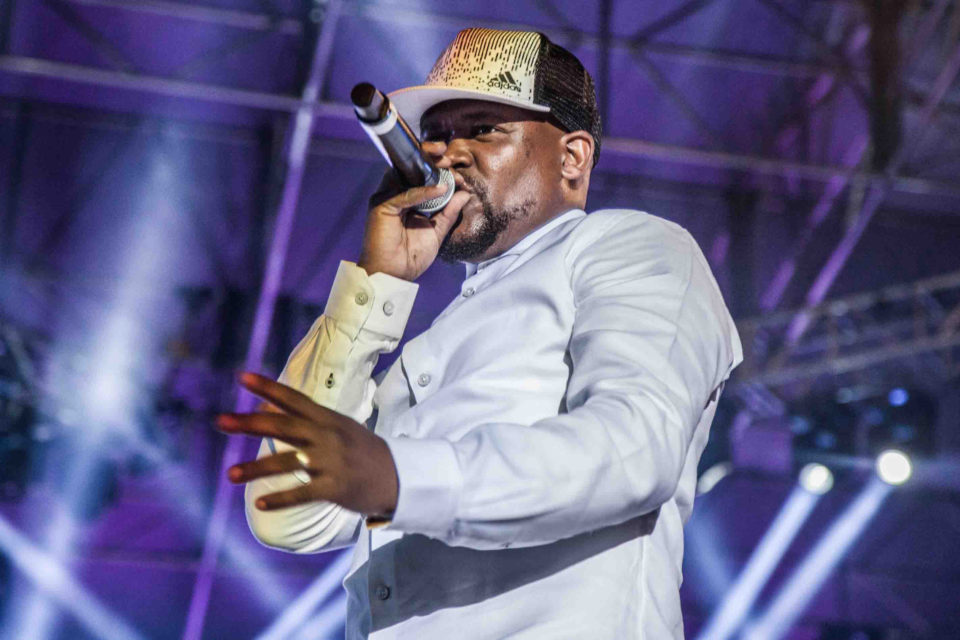 27 April 2018: Linda Mkhize, better known as Prokid, on stage during the 12th annual Back To the City festival in Newtown, Johannesburg. Photograph by Sabelo Mkhabela