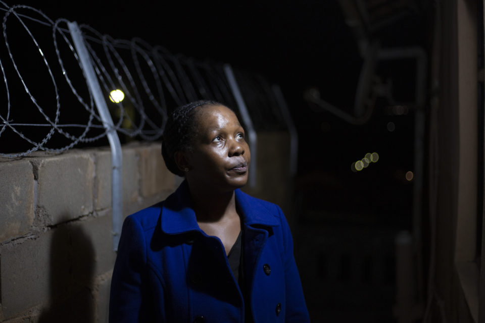 20 September 2018. Sindi Mkhize. Her husband, S'bu Zikode, has recently been subject to threats and warnings of an imminent assassination.