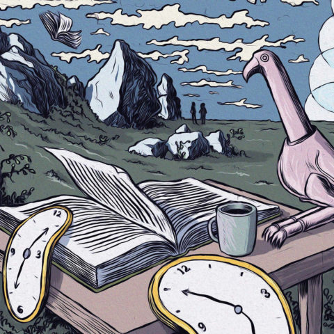 Reading on African time: Illustration by Carlos Amato