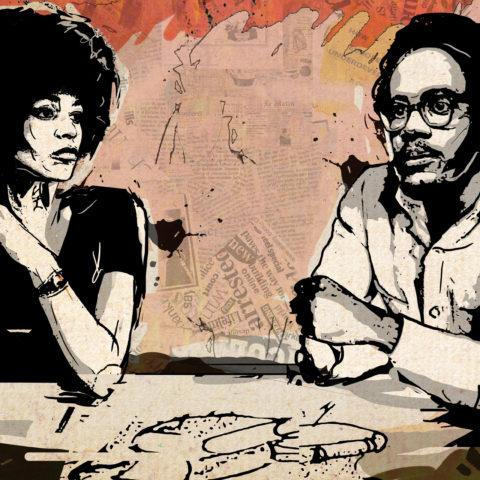 An imagined conversation between Angela Y. Davis and Walter Rodney. Illustration by Anastasya Eliseeva