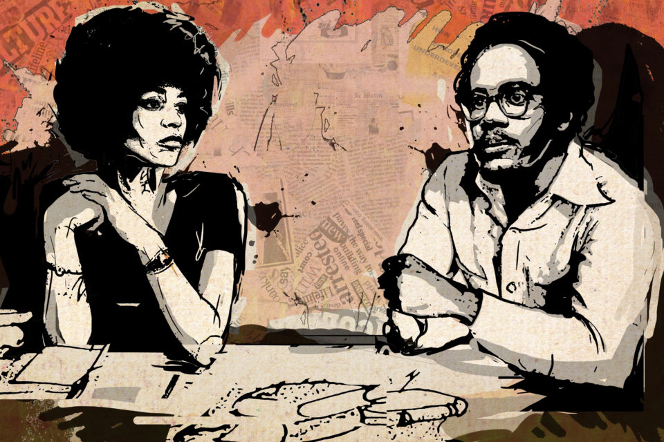 An imagined conversation between Angela Y. Davis and Walter Rodney. Illustration by Anastasya Eliseeva