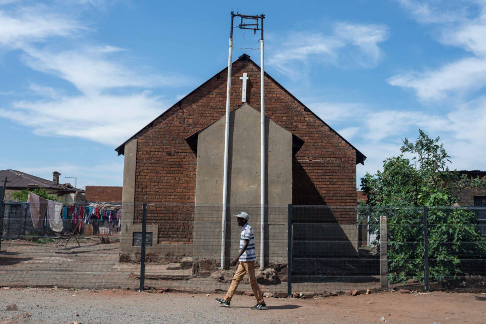 17 October 2018: The African Methodist Church in Kliptown. Located about 17km south-west of central Johannesburg, it is the oldest residential district of Soweto.