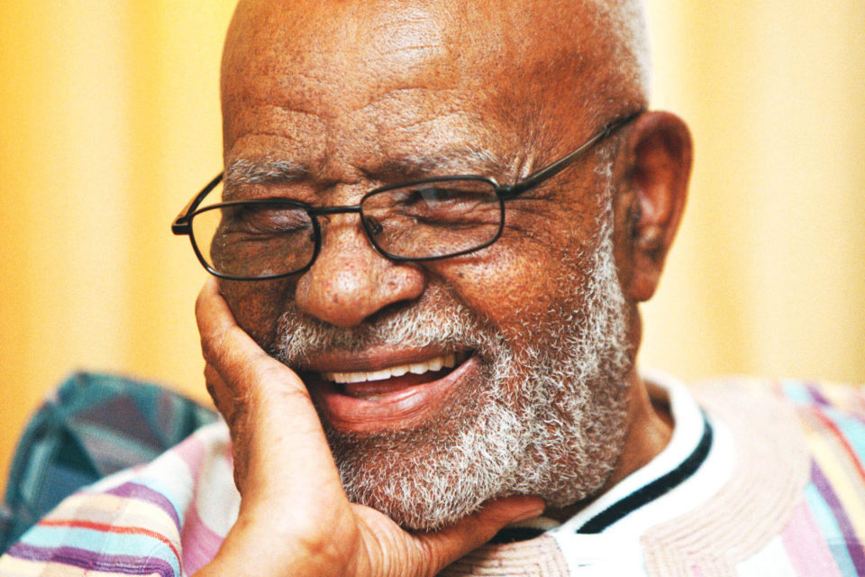 11 November 2002: Es'kia Mphahlele was a prolific and gifted intellectual. (Photograph by Beeld/Elske Kritzinger)