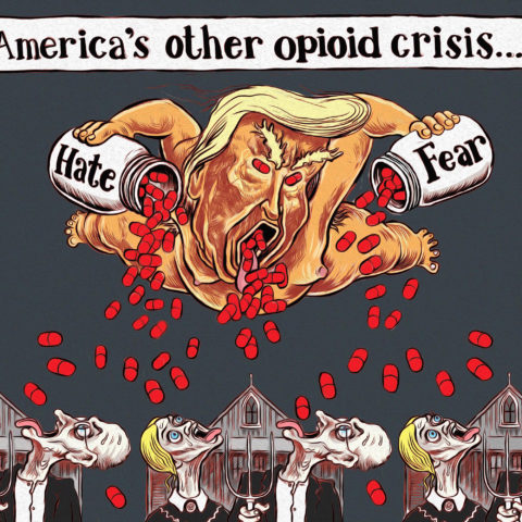 Cartoon by Carlos | Take ten of these and vote for Trump