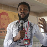 21 September 2018: Jean-Marie Kalonji, an activist with the youth movement Quatrieme Voie in Winneba, Ghana.