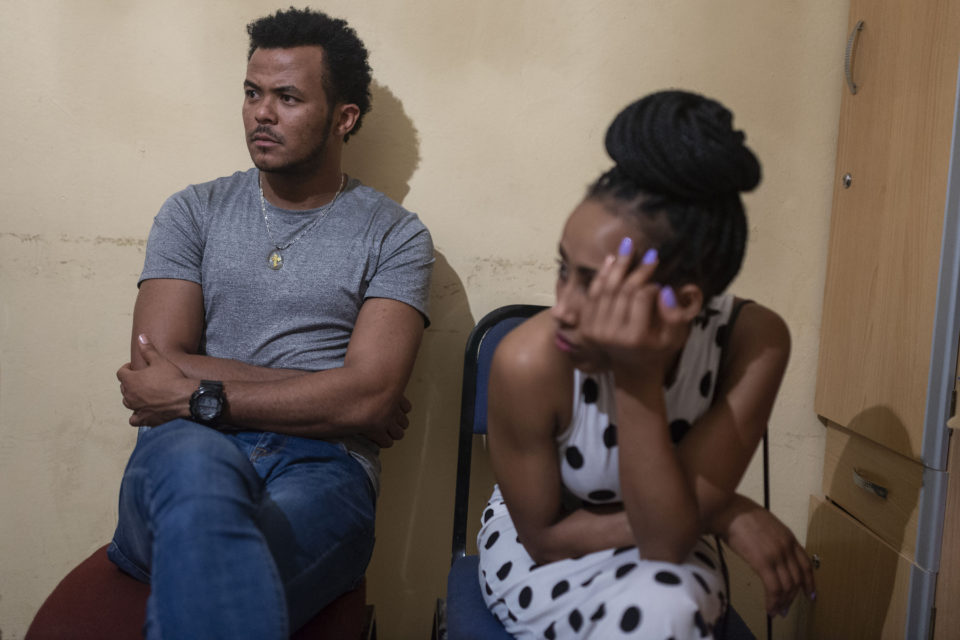 29 October 2018: Athletes Gemechu Alemu Lama (left), 21, and Tigist Kebede (right), 18, have had to put their promising athletic careers on hold after their protest against the treatment of the Oromo people in Ethiopia.