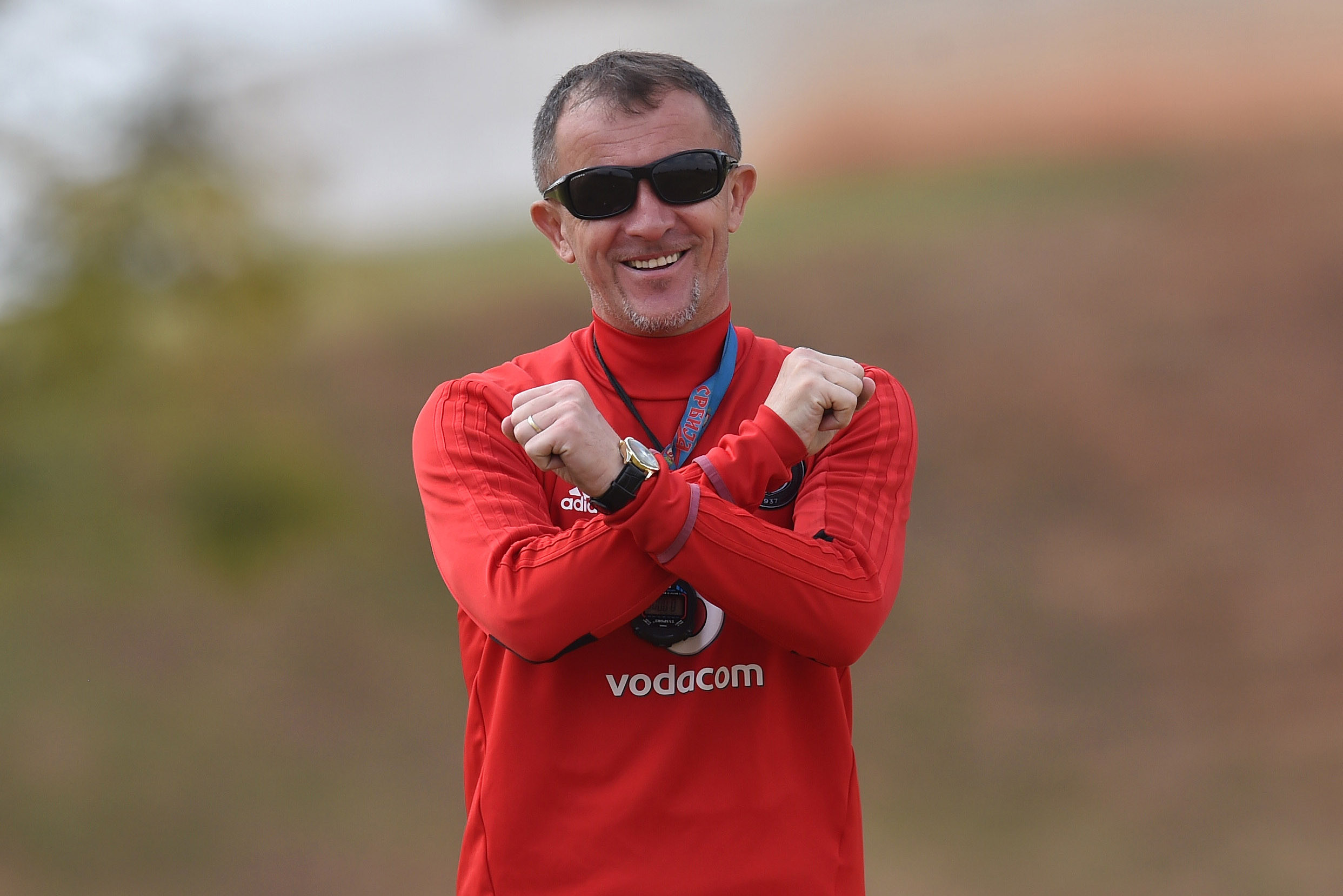 Orlando Pirates coach Milutin Sredojevic is first and foremost a Buccaneers fan. Photograph by Thabang Lepule, courtesy of Orlando Pirates Football Club media