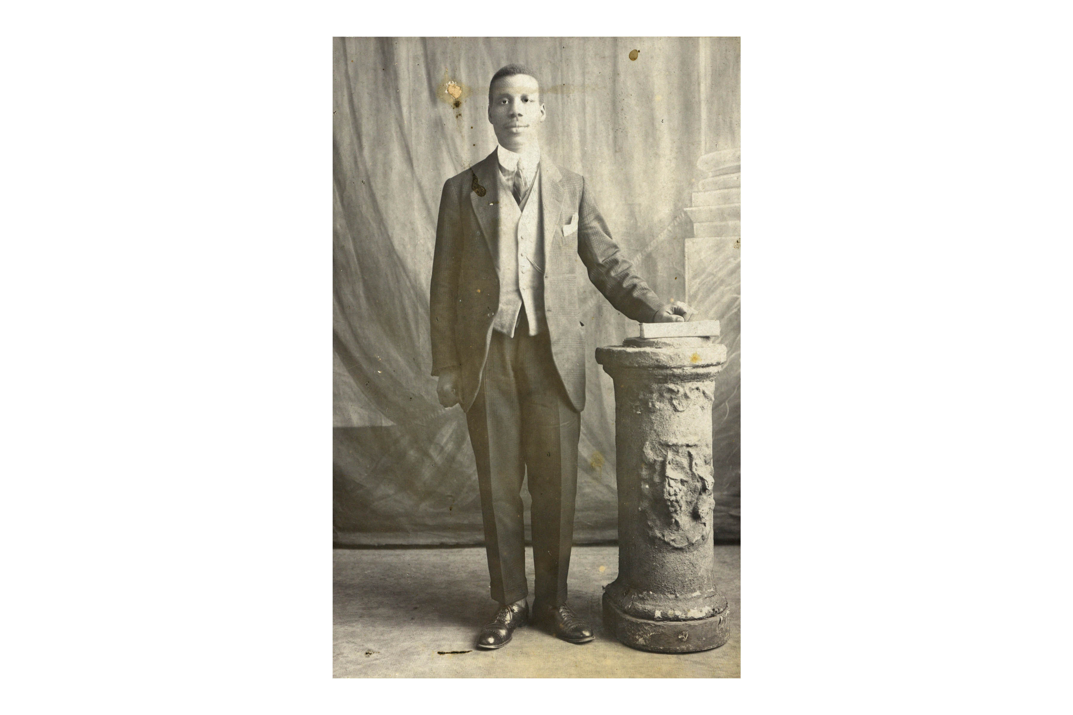 AWG Champion poses in a studio portrait taken around 1925. (Photograph courtesy of UKZN Campbell Collection)