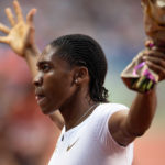 30 June 2018: Caster Semenya of South Africa celebrates winning the Women's 800m at the Meeting de Paris of the IAAF Diamond League 2018 in Paris, France. (Photo by Andy Astfalck/Getty Images)