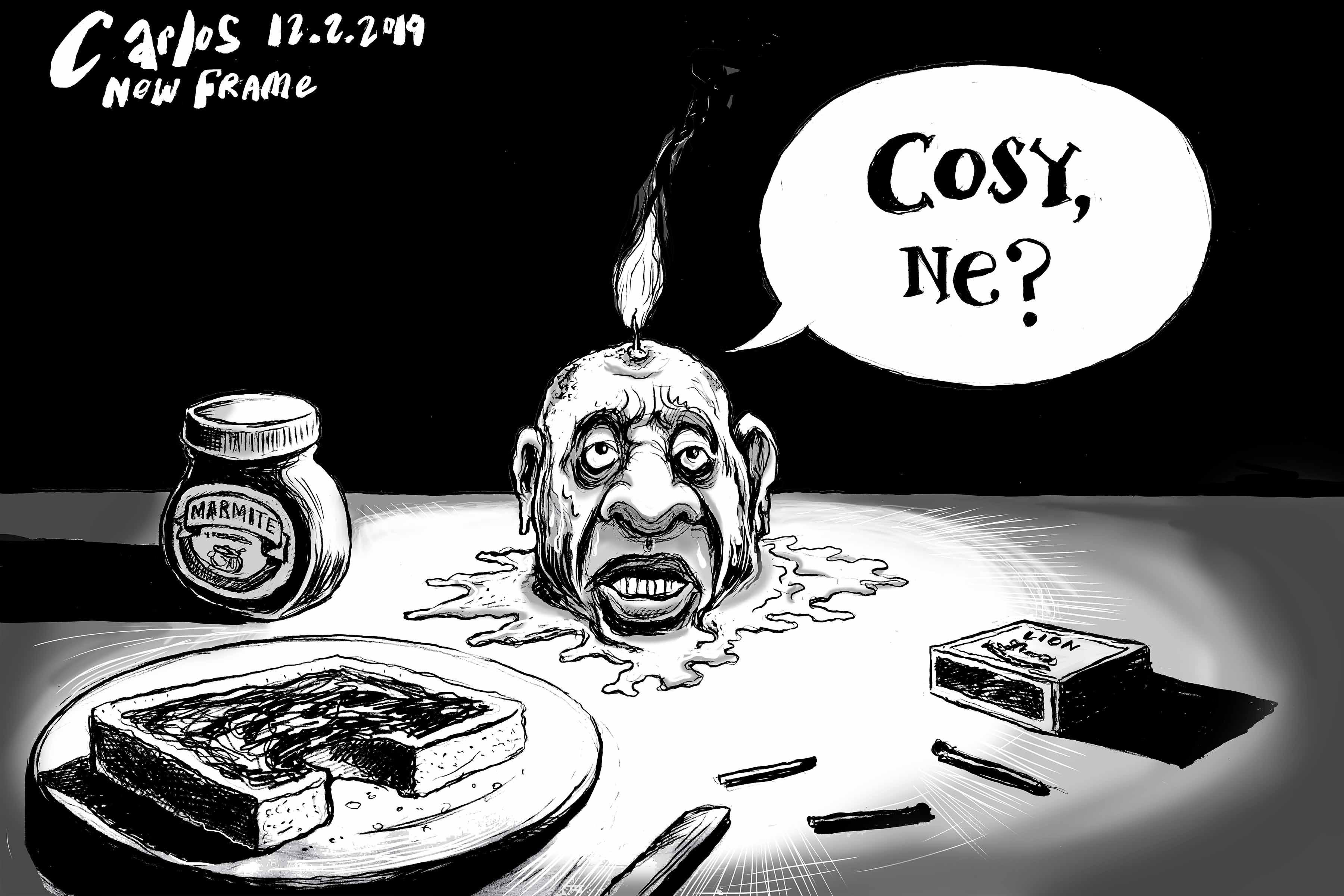 Cartoon by Carlos | Waxing lyrical