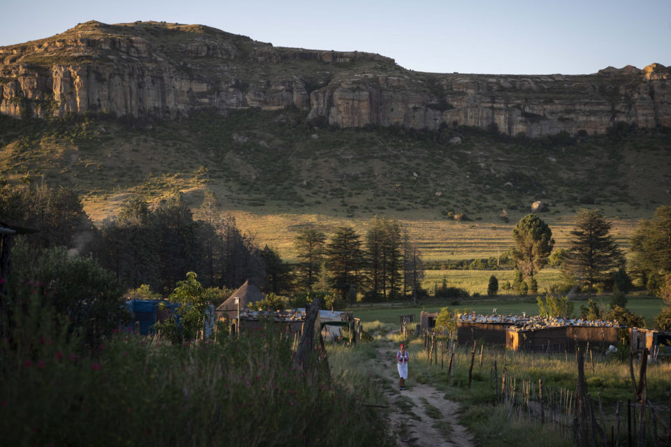 21 January 2019: A late afternoon view of Naledi village nestled in the mountains outside Ficksburg in the eastern Free State.