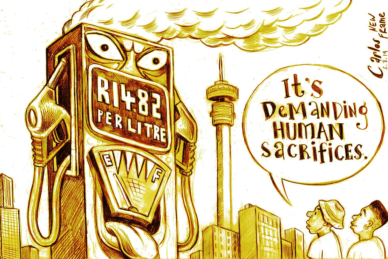 Cartoon by Carlos   Big Pumping