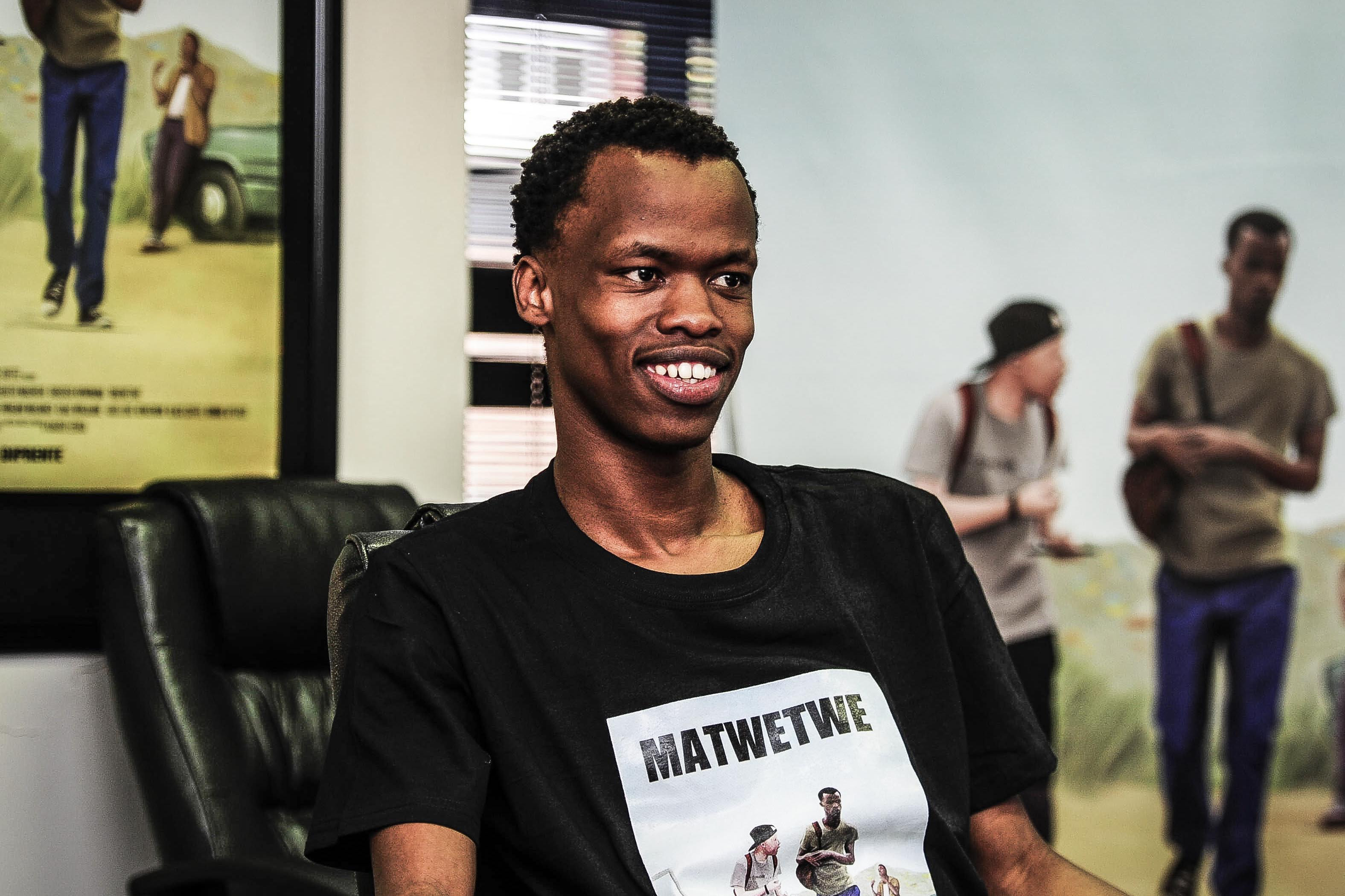 18 January 2019: Sibusiso Khwinana during an interview in Sandton. He played Lefa, one of the lead characters in the comedy film 'Matwetwe'. (Photograph by Gallo Images/City Press/ Mpumelelo Buthelezi)