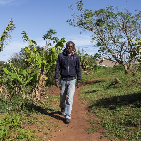 27 August 2018: Nhlanhla Luthuli a village elder from Umnini on KwaZulu-Natal's South Coast.