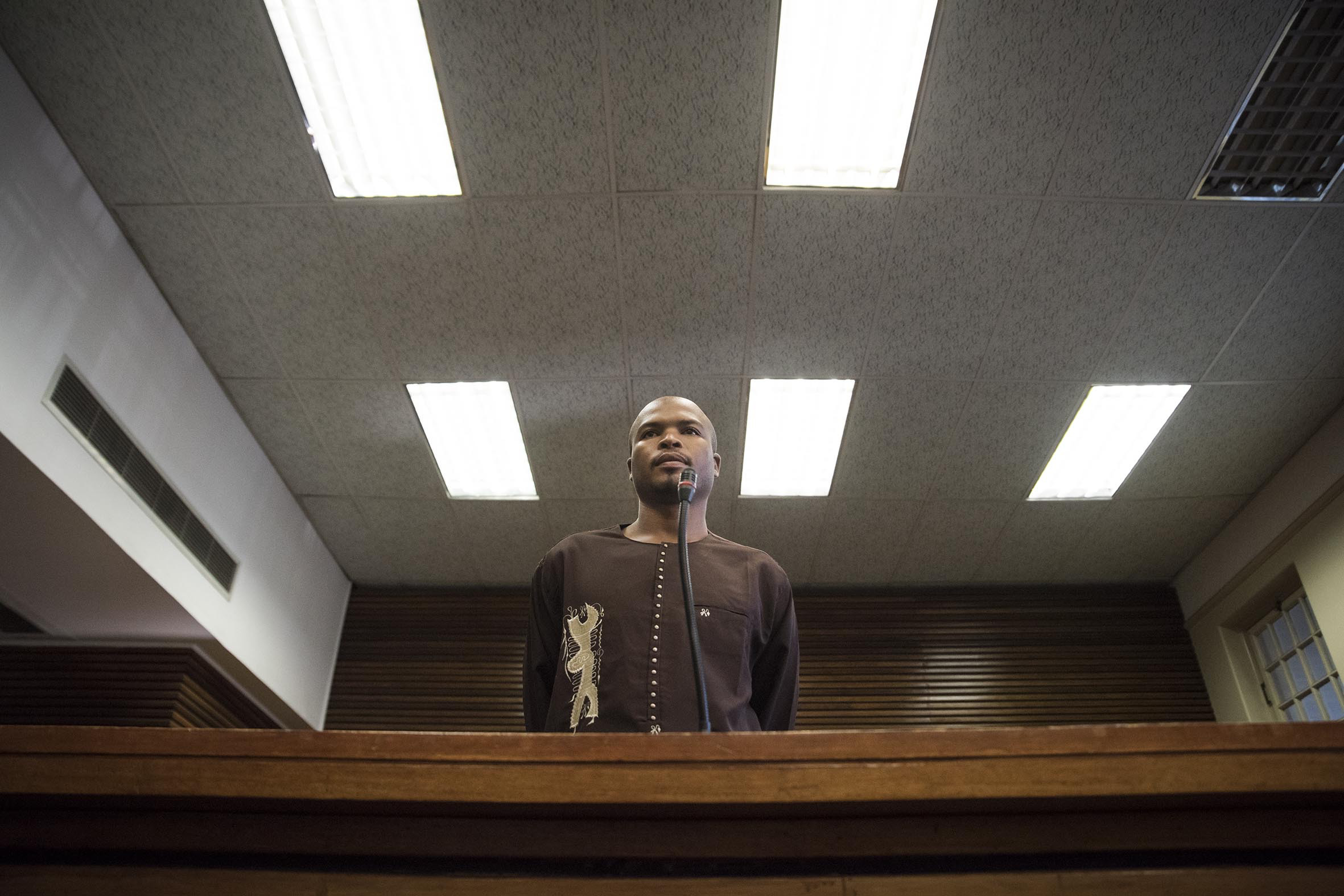 31 August 2018: Siyambusa Mpolase, a resident of the Good Hope shack settlement in Germiston during his fifth appearance at the Germiston magistrates' court on a charge of public violence