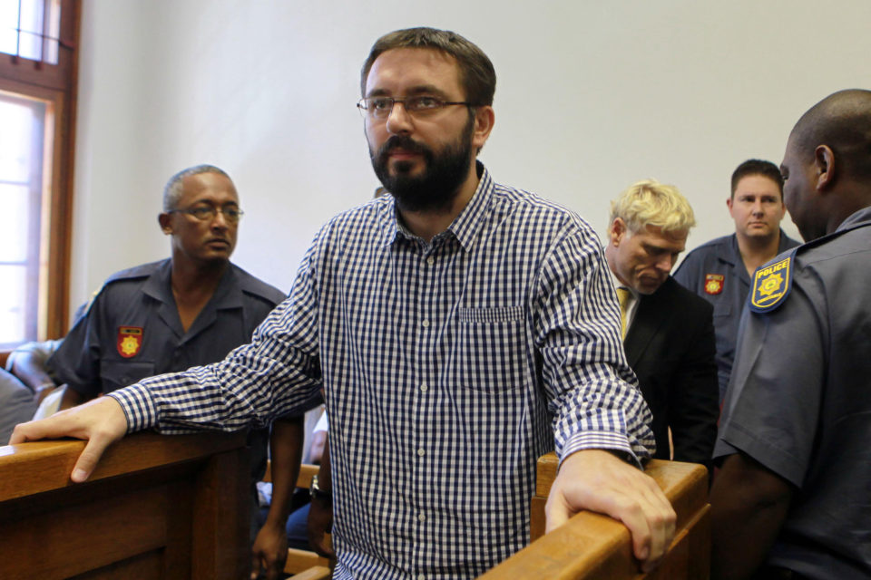 6 February 2012: Dobrosav Gavric, convicted of murder in Serbia, and seeking refugee status in South Africa, at the Cape Town Magistrate's Court. (Photo by Gallo Images / Nardus Engelbrecht)