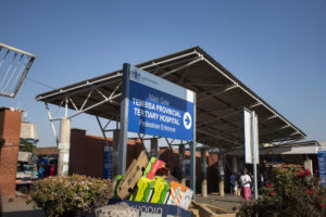 11 October 2018: Exterior of Tembisa Hospital where David Mtshintshi was found lying on the floor in a soiled nappy moments before he died.
