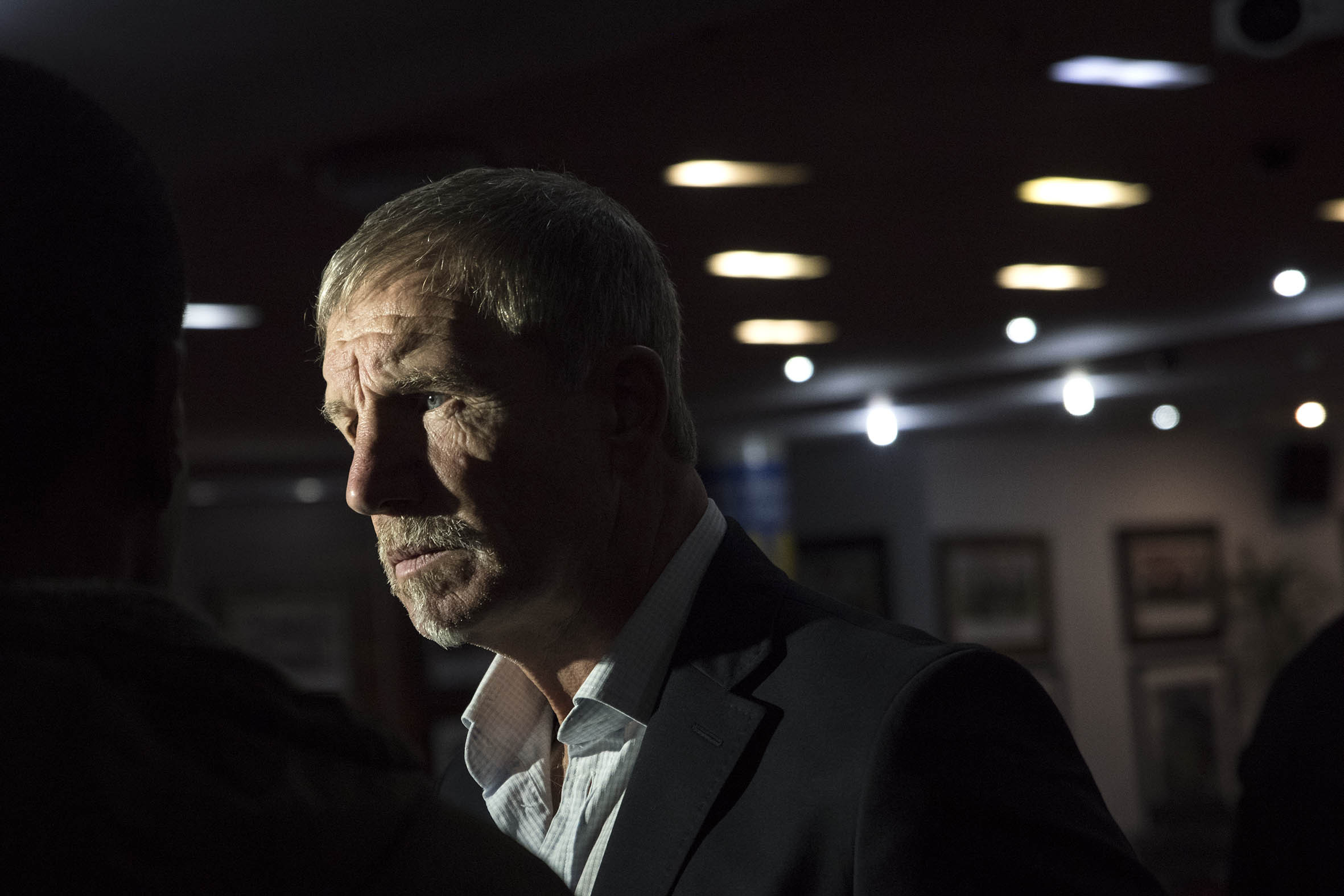 28 August 2018: Bafana Bafana coach Stuart Baxter at Safa House at a press conference announcing the squad that will face Libya in the Africa Cup of Nations qualifier in Durban on Saturday 8 September 2018.