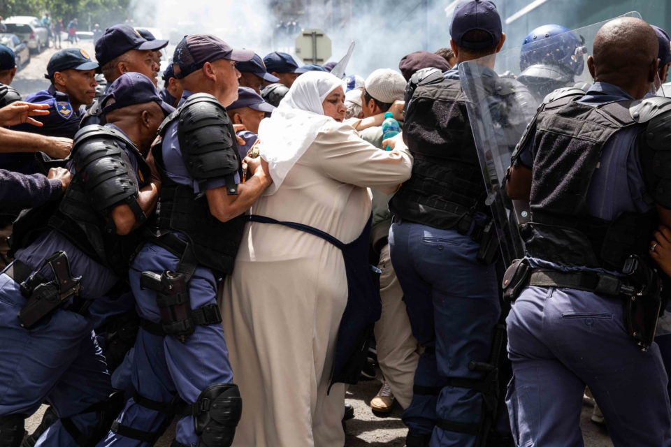 20 November 2018: 53 year old Fatima Isaacs was one of the protesters in Bo-Kaap. Isaacs stayed in Bo-Kaap thoughout her youth. (Photograph by Ashraf Hendricks)