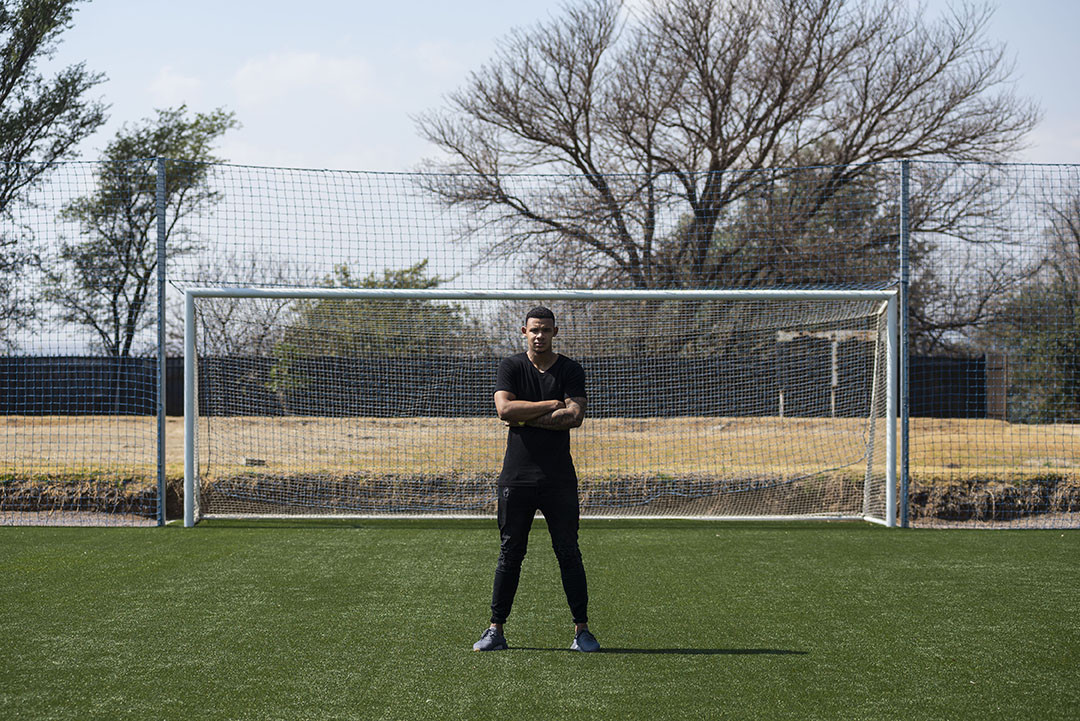 24 August 2018: SuperSport United goalkeeper Ronwen Williams at the team's training base at Megawatt Park in Woodmead.