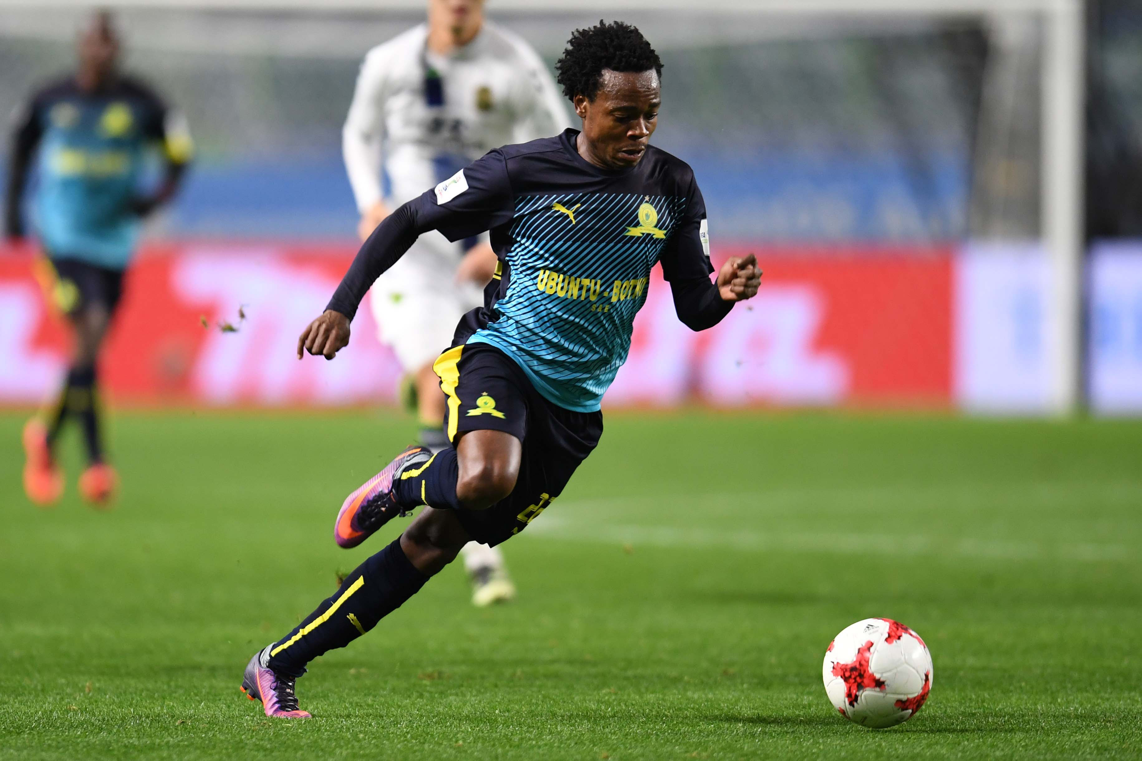 14 December 2016: Percy Tau, then of Mamelodi Sundowns during the 2016 FIFA Club World Cup match for fifth place between Mamelodi Sundowns and Jeonbuk Hyundai at the Suita City Football Stadium, in Suita, Japan. (Photo by Atsushi Tomura/Getty)